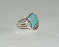 SS Oval Set Ring (size 7)