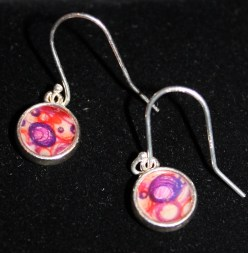 Small Orange/Purple SS Earrings