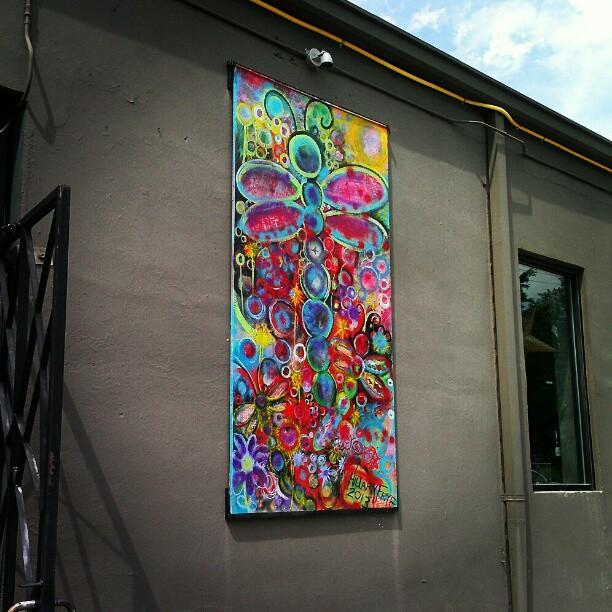 New Mural installed at Avenue M, 793 Merrimon Ave. Asheville, N.C.