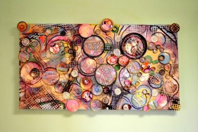 Extragalactic, mixed media on canvas