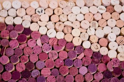 close up of wine cork art