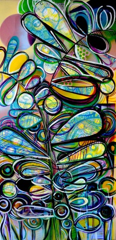 """Spring is On the Way, 24"""" x 48"""" mixed media on canvas"""