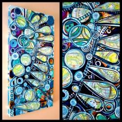 "Midnight, 15"" x 30"" x 1.5"", mixed media on canvas"