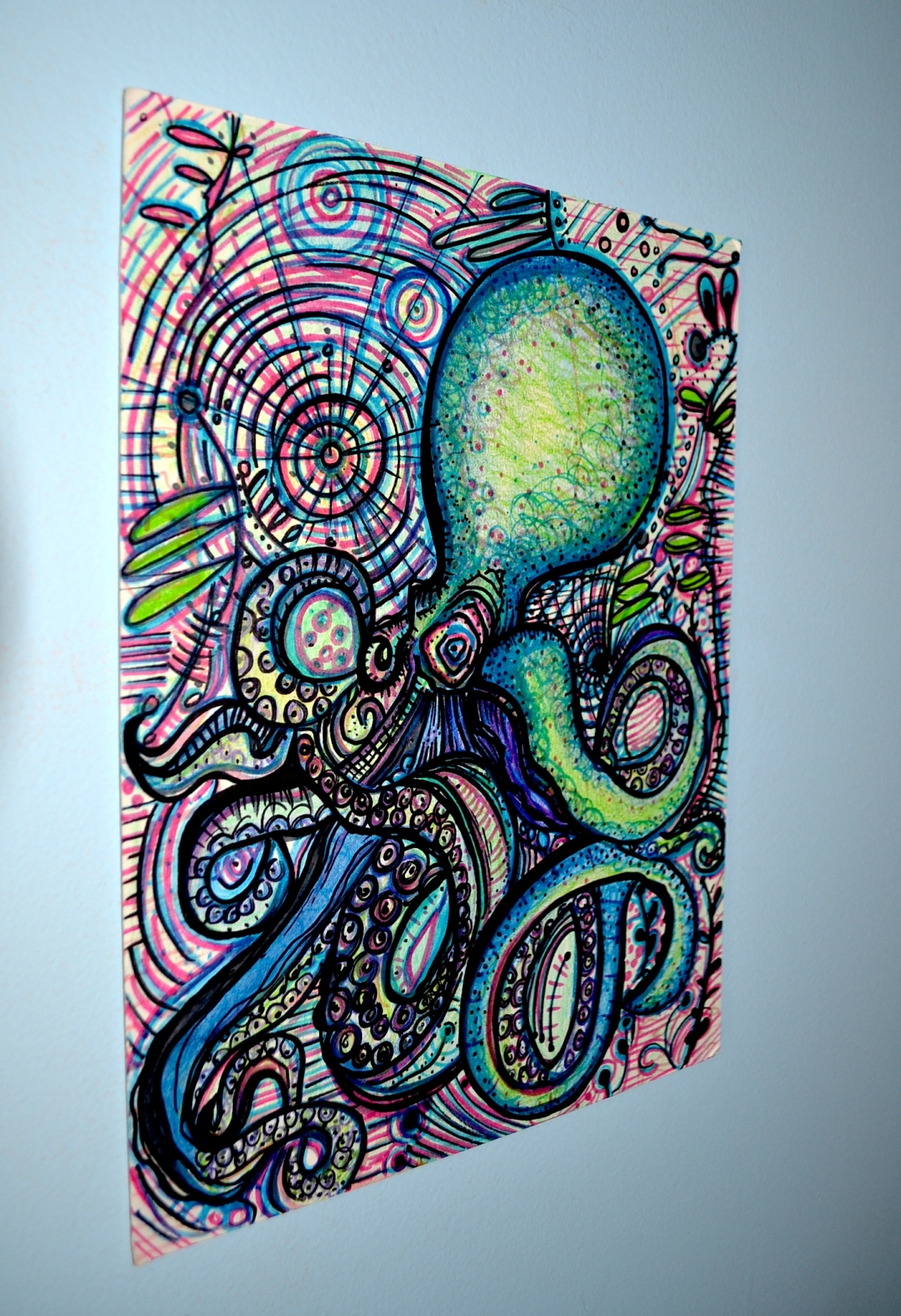 octo drawing left view